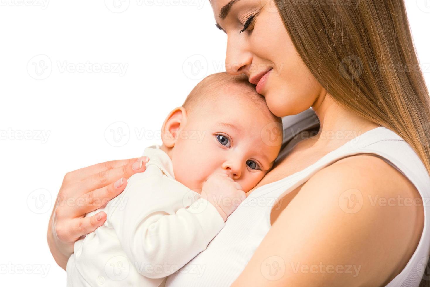 kleines glückliches Baby foto