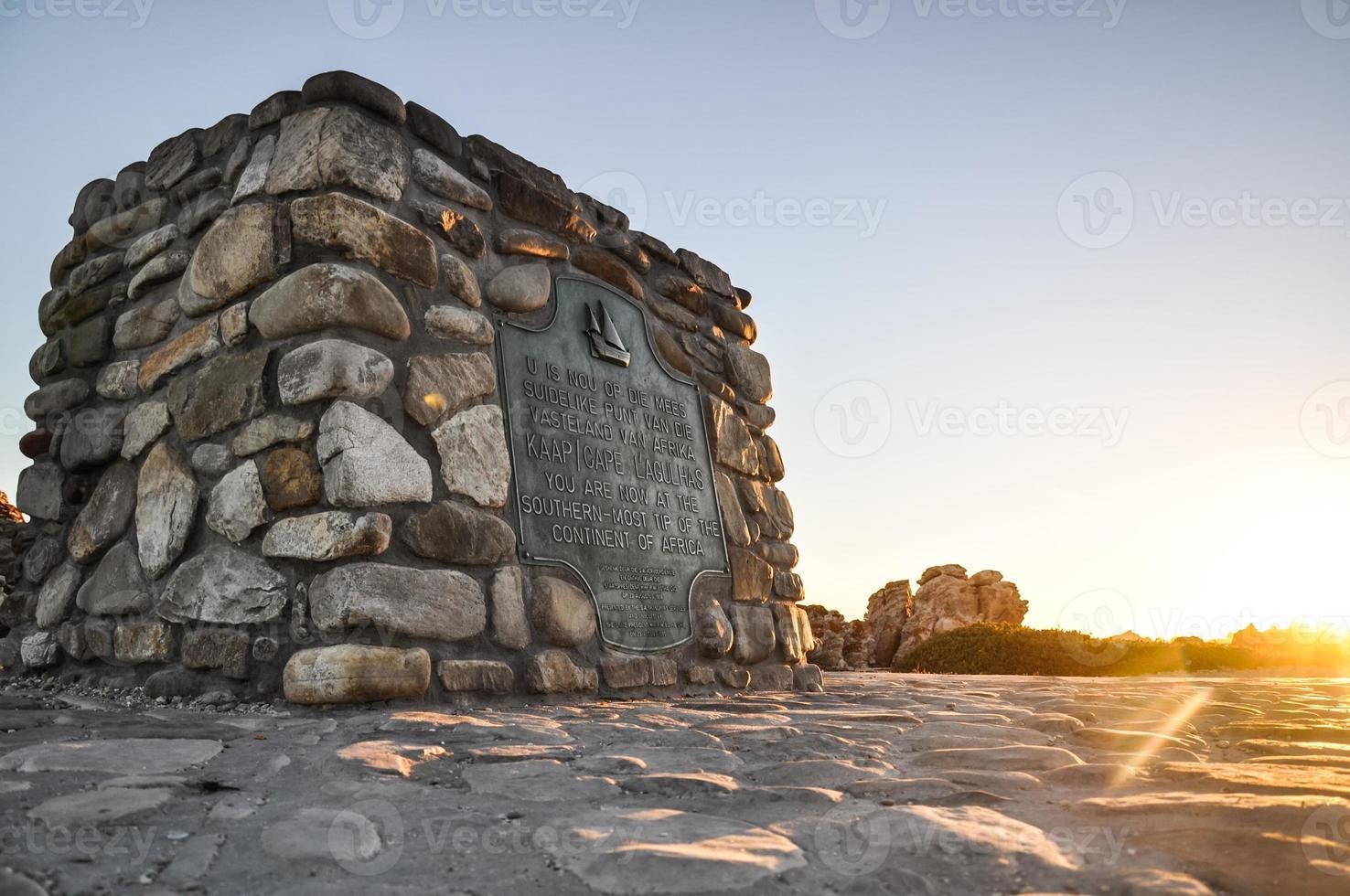 Cape Agulhas - Afrikas südlichster Punkt foto