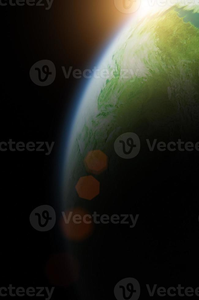 Sonnenfinsternis des Planeten foto