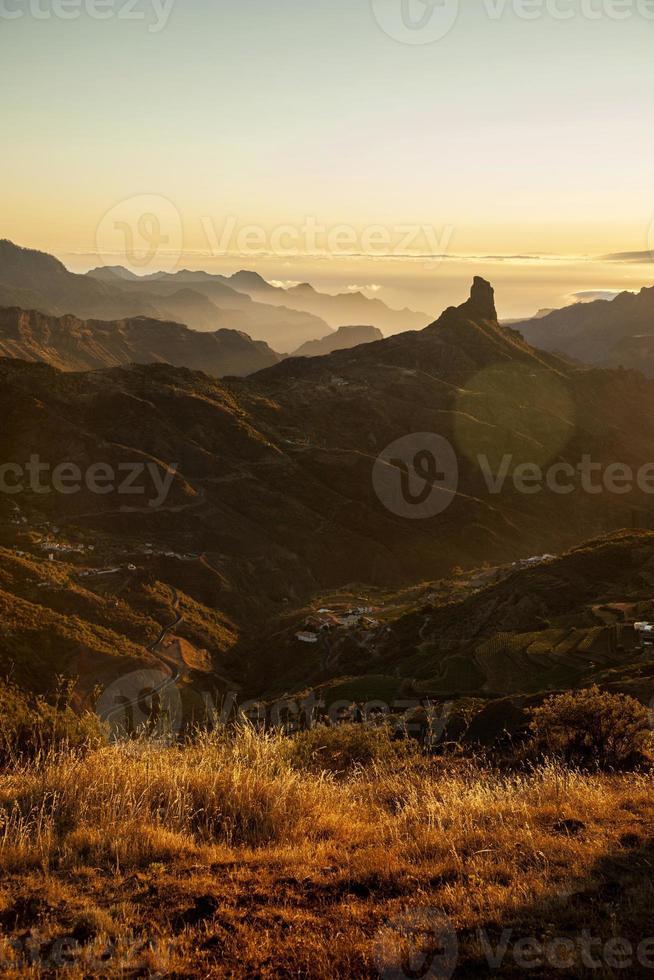 Cruz de Tejeda bei Sonnenuntergang foto