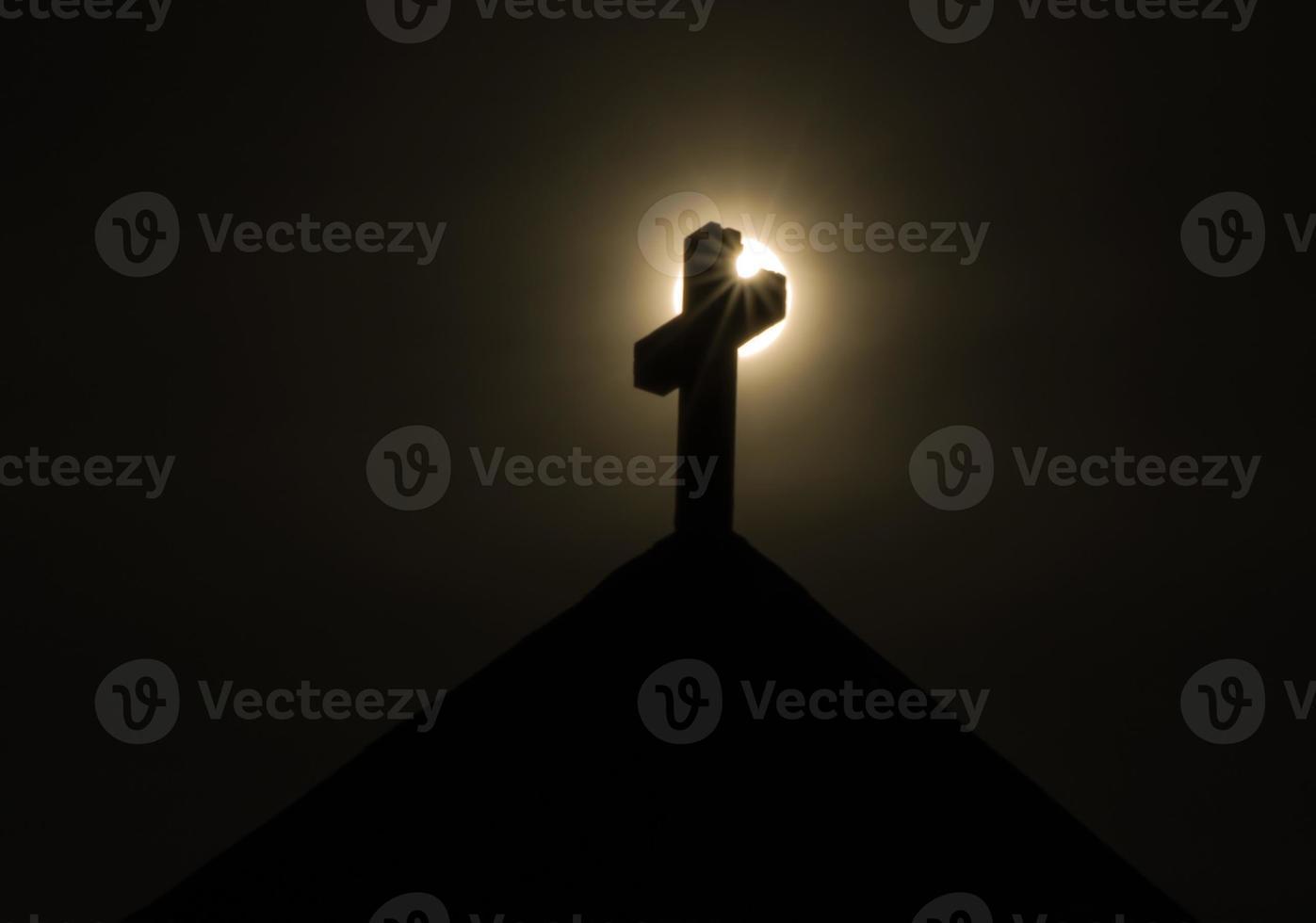 Kreuz mit Sonnenstern foto