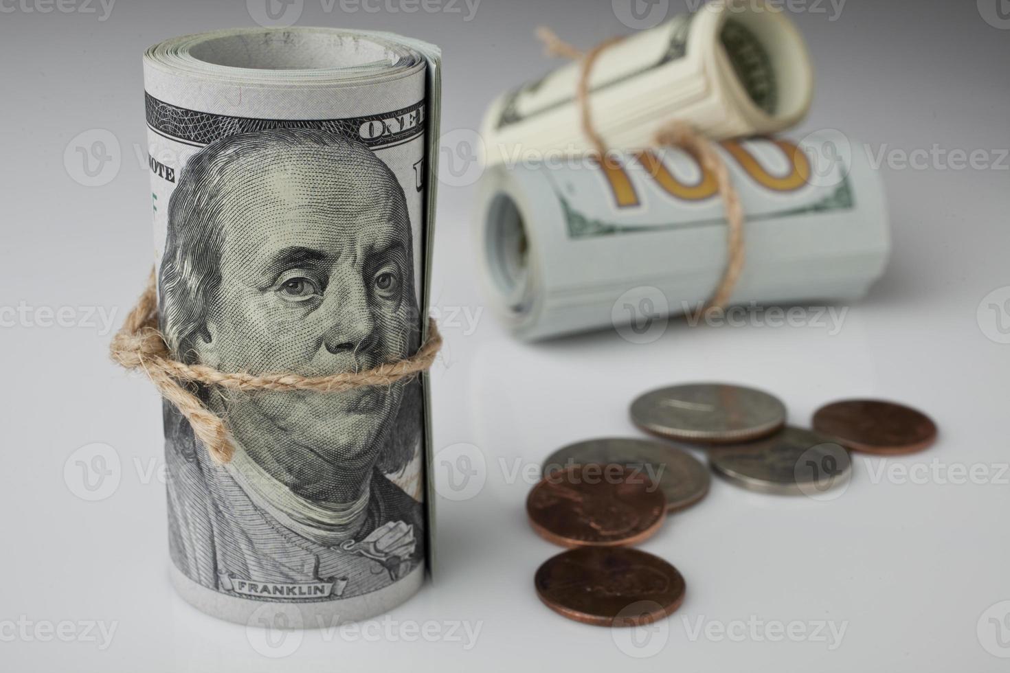 Dollar und Münze foto