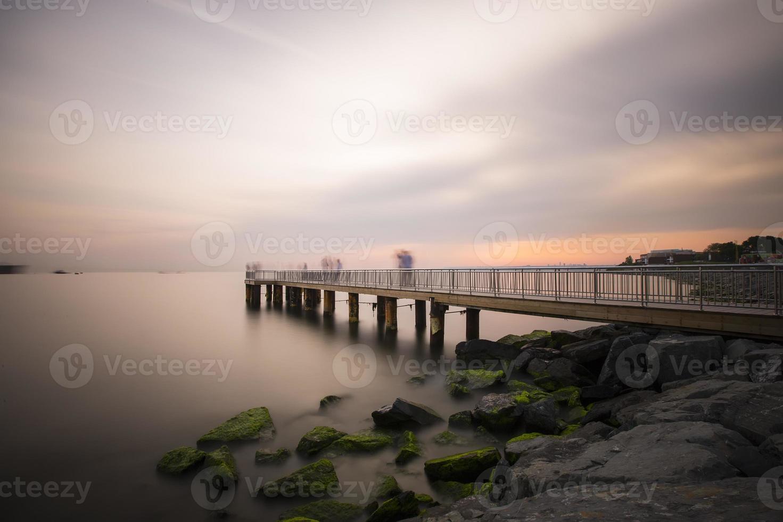 Pier lange Belichtung foto