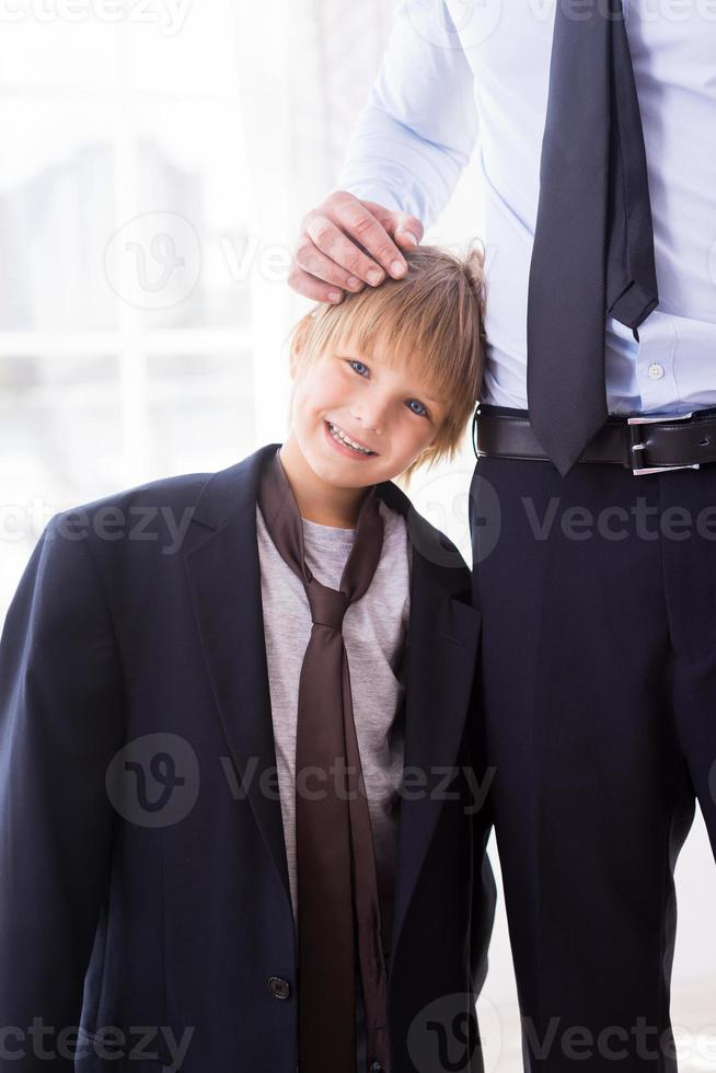Ich möchte wie mein Vater sein. foto