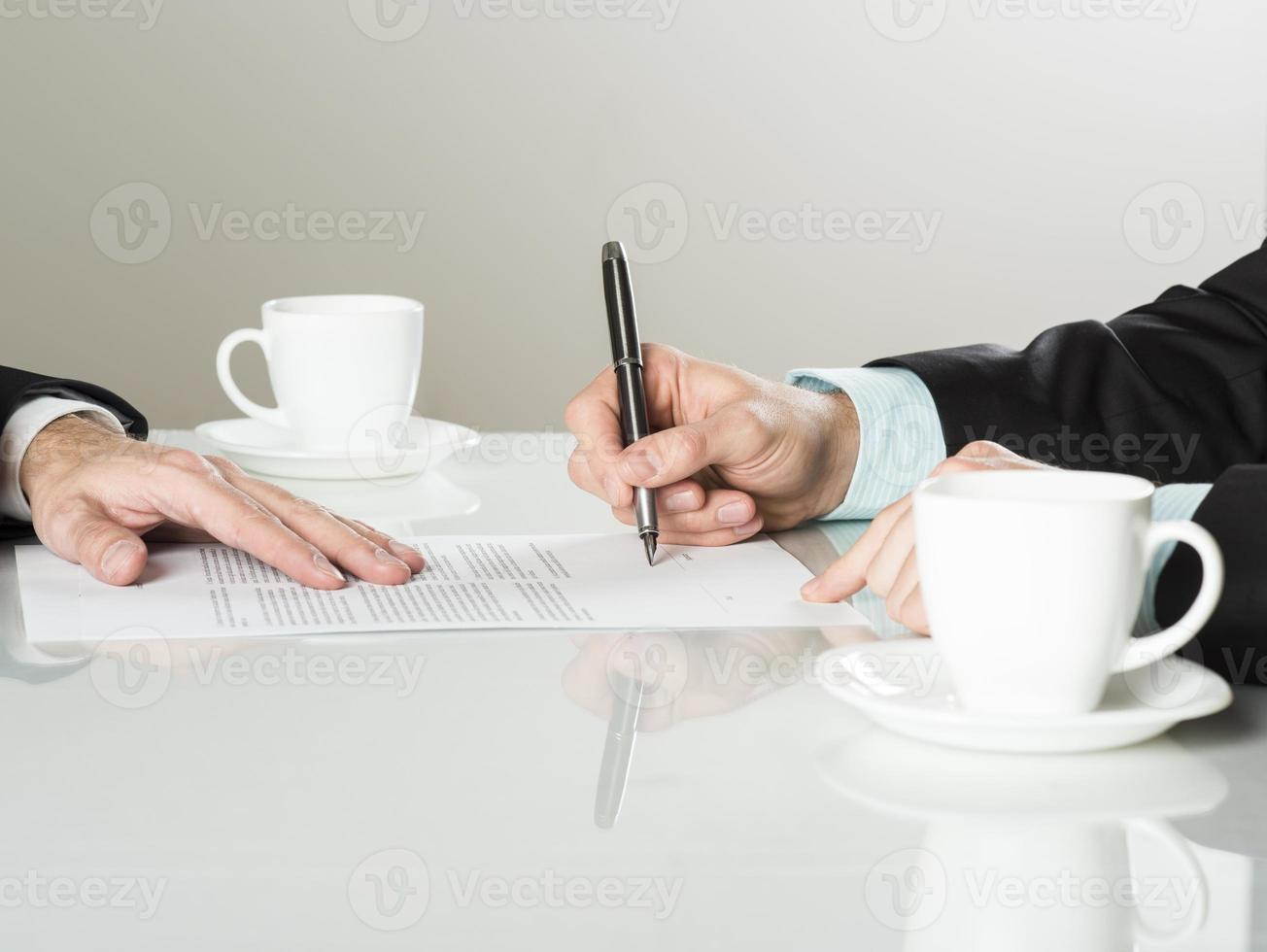 Geschäftsvertrag foto