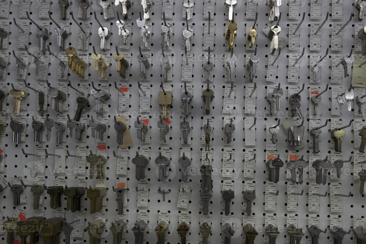 Schlüssel im Laden foto