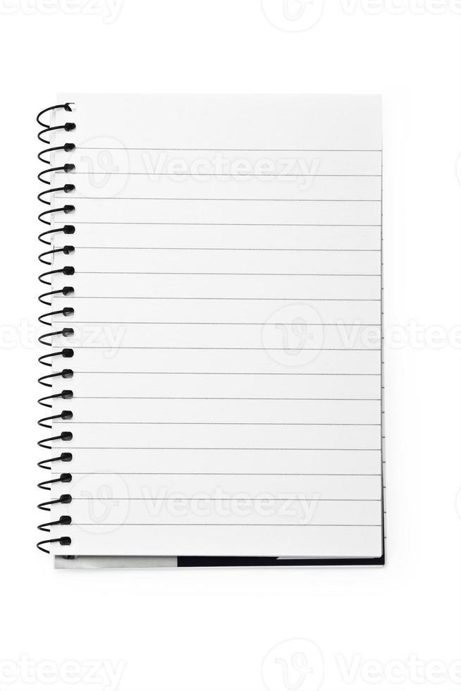 Notizbuch in einer Linie mit einer Spirale foto