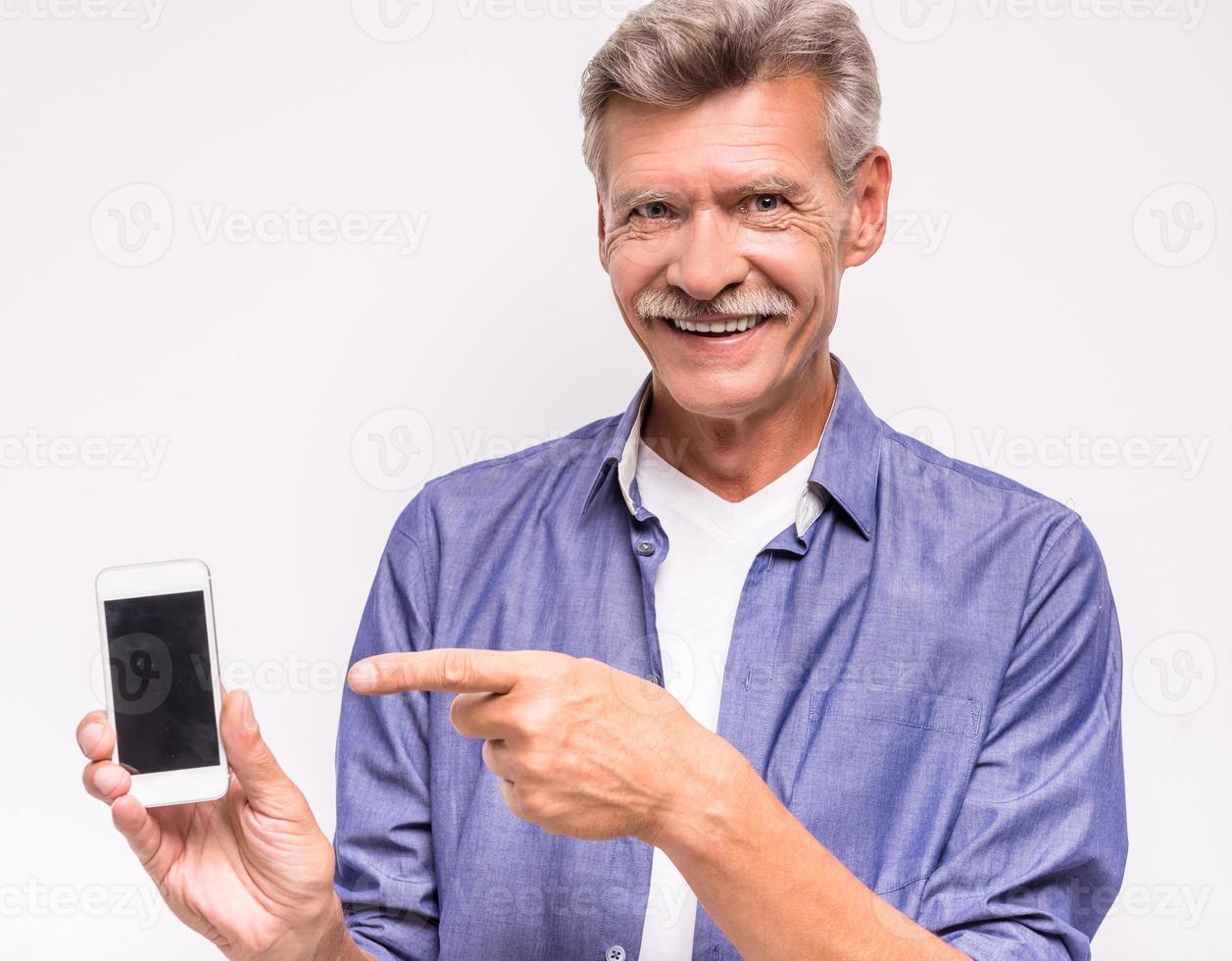 älterer Mann foto