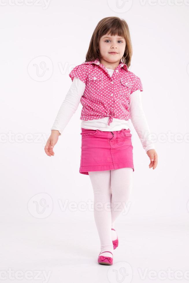 kleines Mädchen Vorschulkind Modell foto