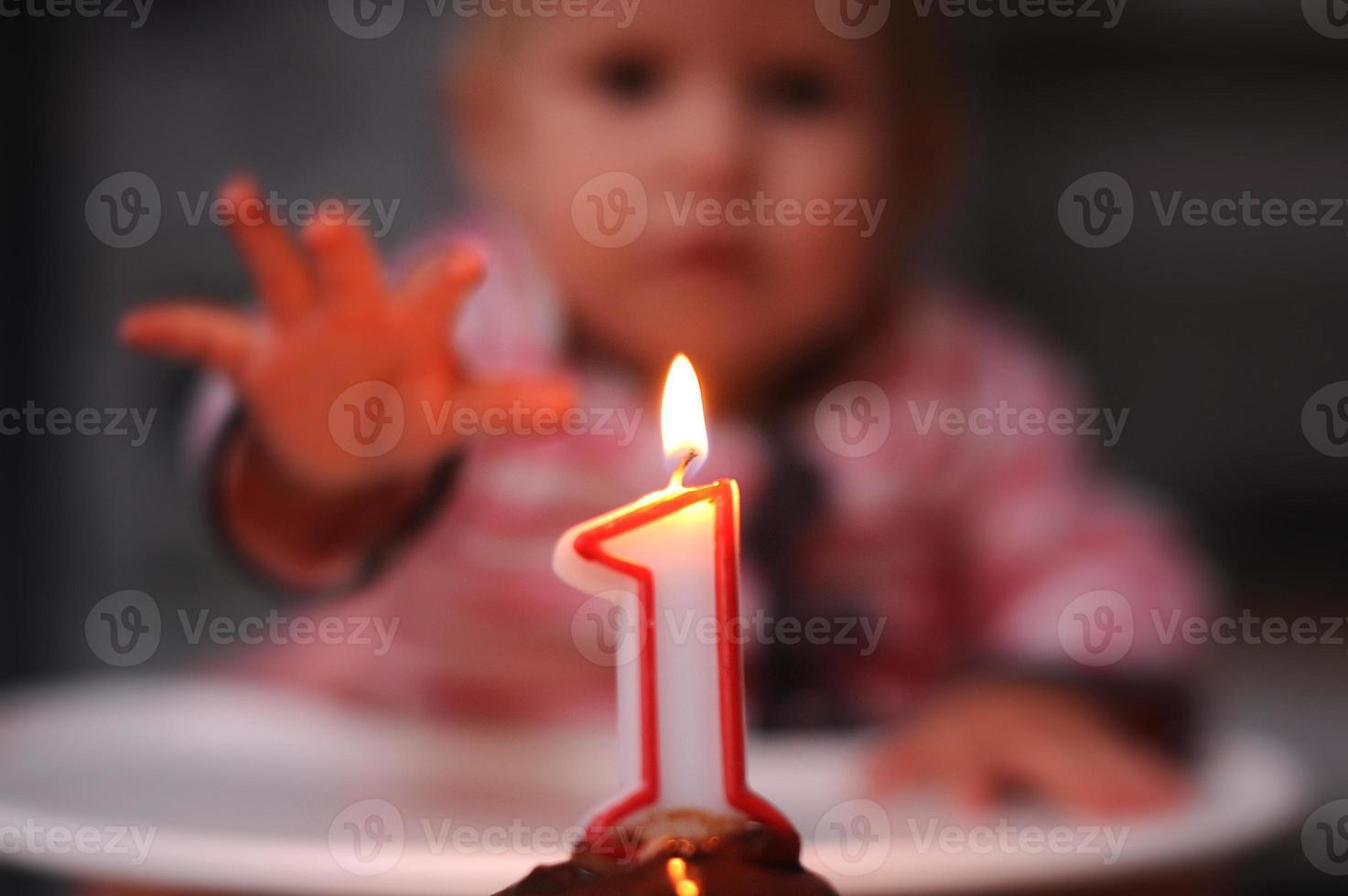 Baby ersten Geburtstag foto