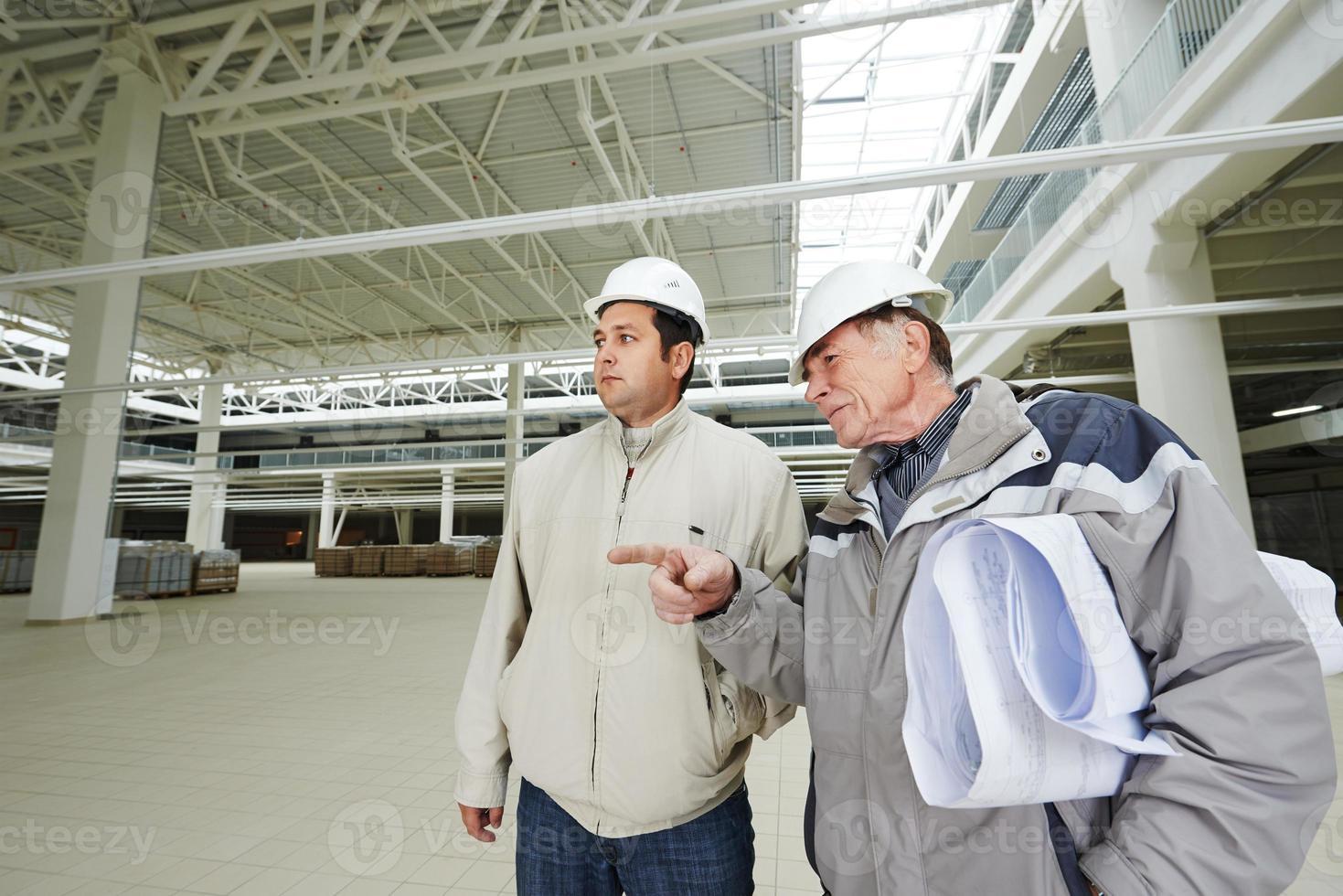 Architekt und Bauingenieur Arbeiter foto