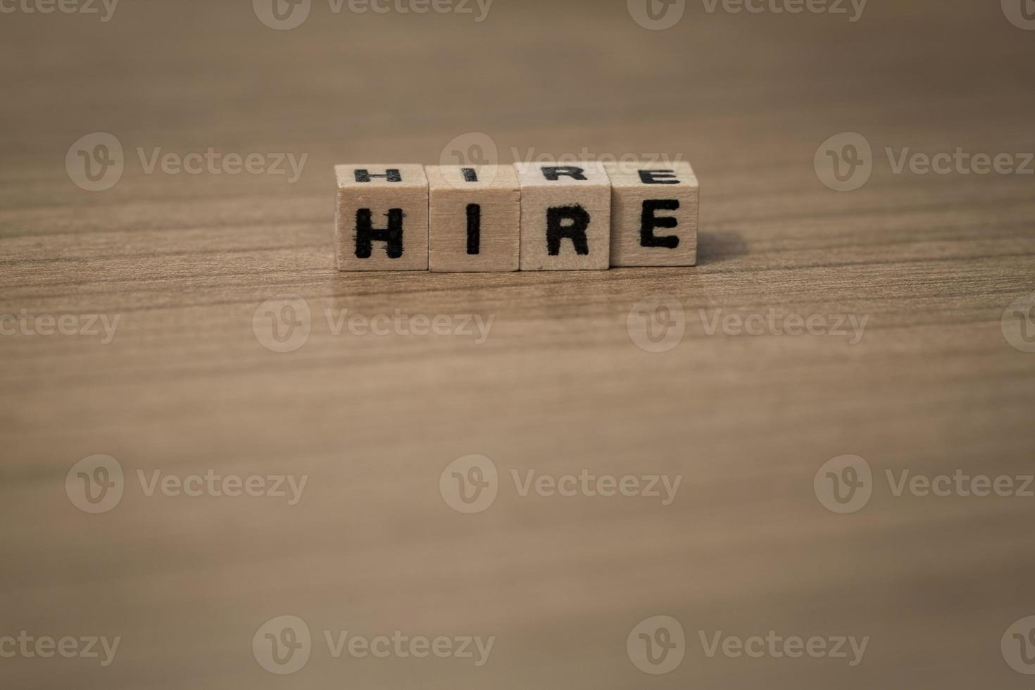 in Holzwürfeln mieten foto