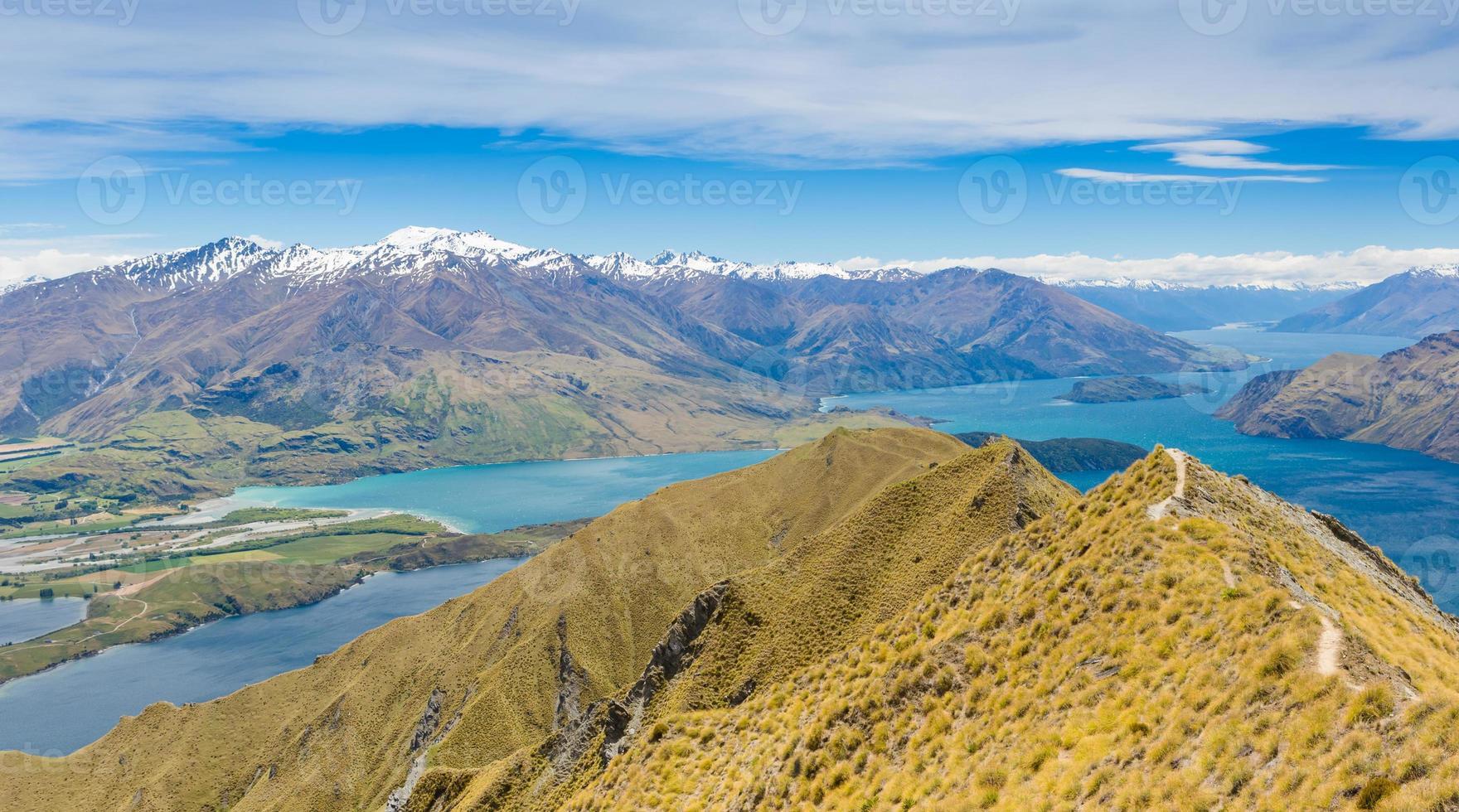 See Wanaka und Mt aufstrebenden Nationalpark, Neuseeland foto