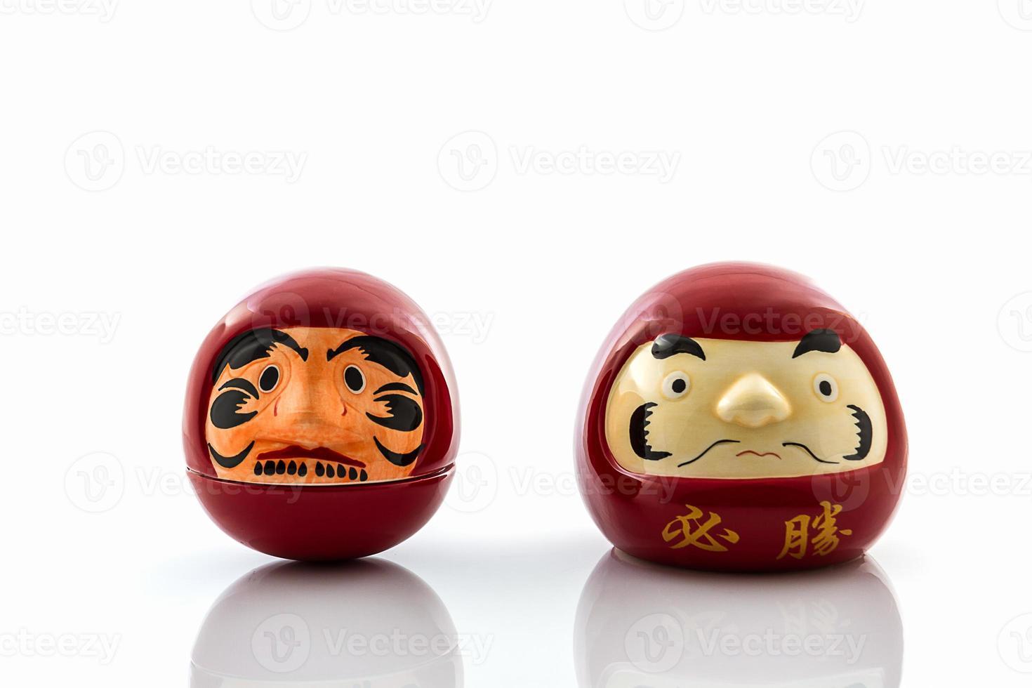 Daruma Glückspuppe, Symbole der japanischen kulturellen und spirituellen tr foto