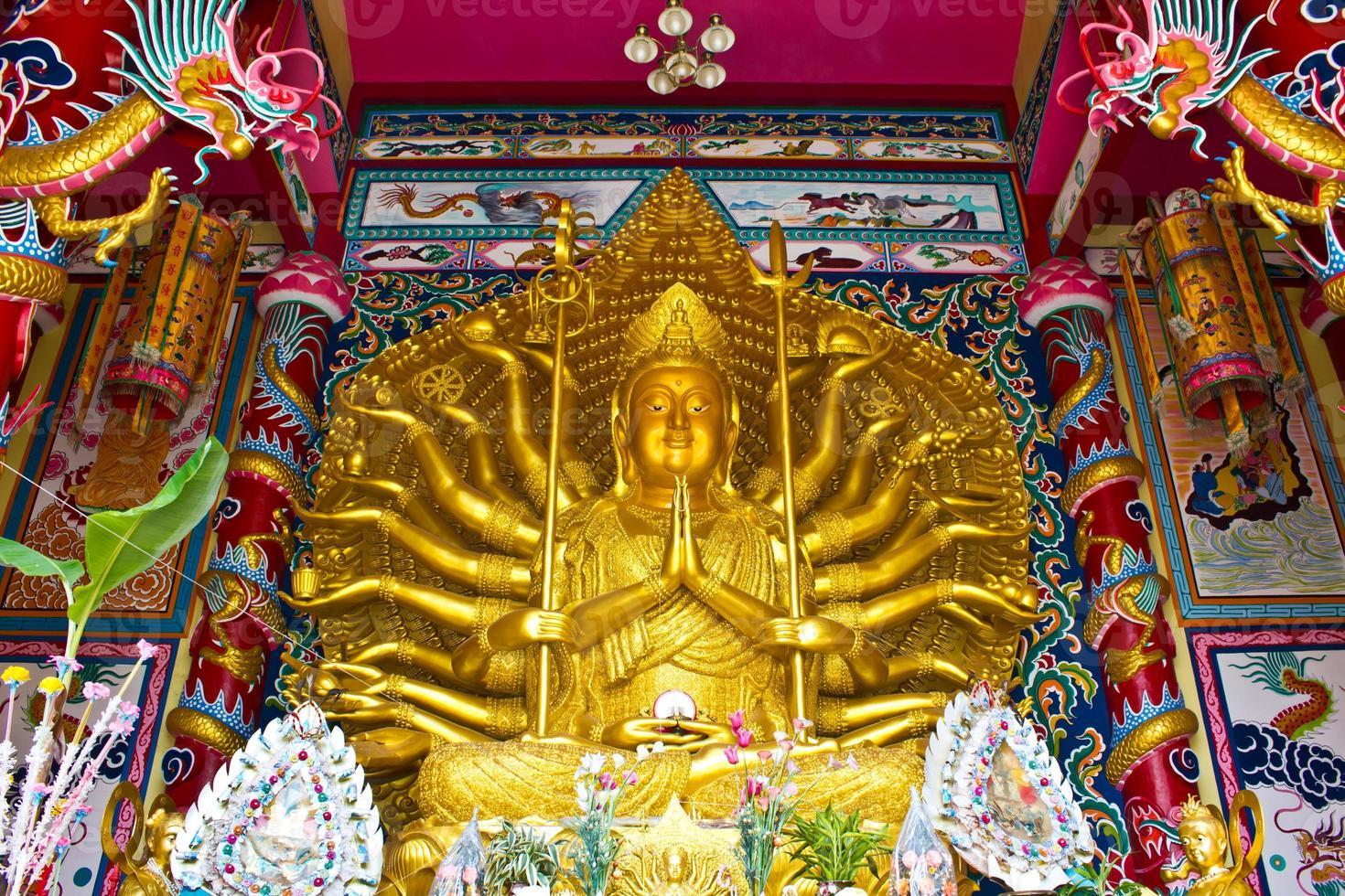 tausend Hände, u lai, höchster Gott in der chinesischen Kultur foto