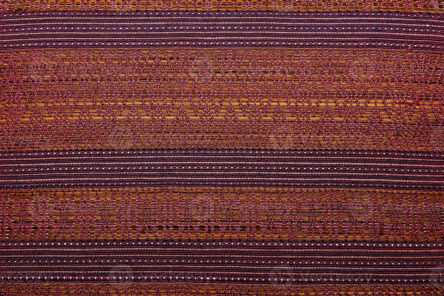 bunte afrikanische peruanische Art Teppichoberfläche nah oben foto