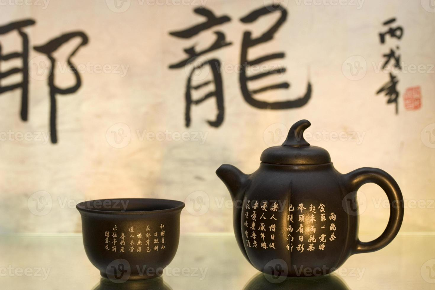 chinesisches Teeservice foto