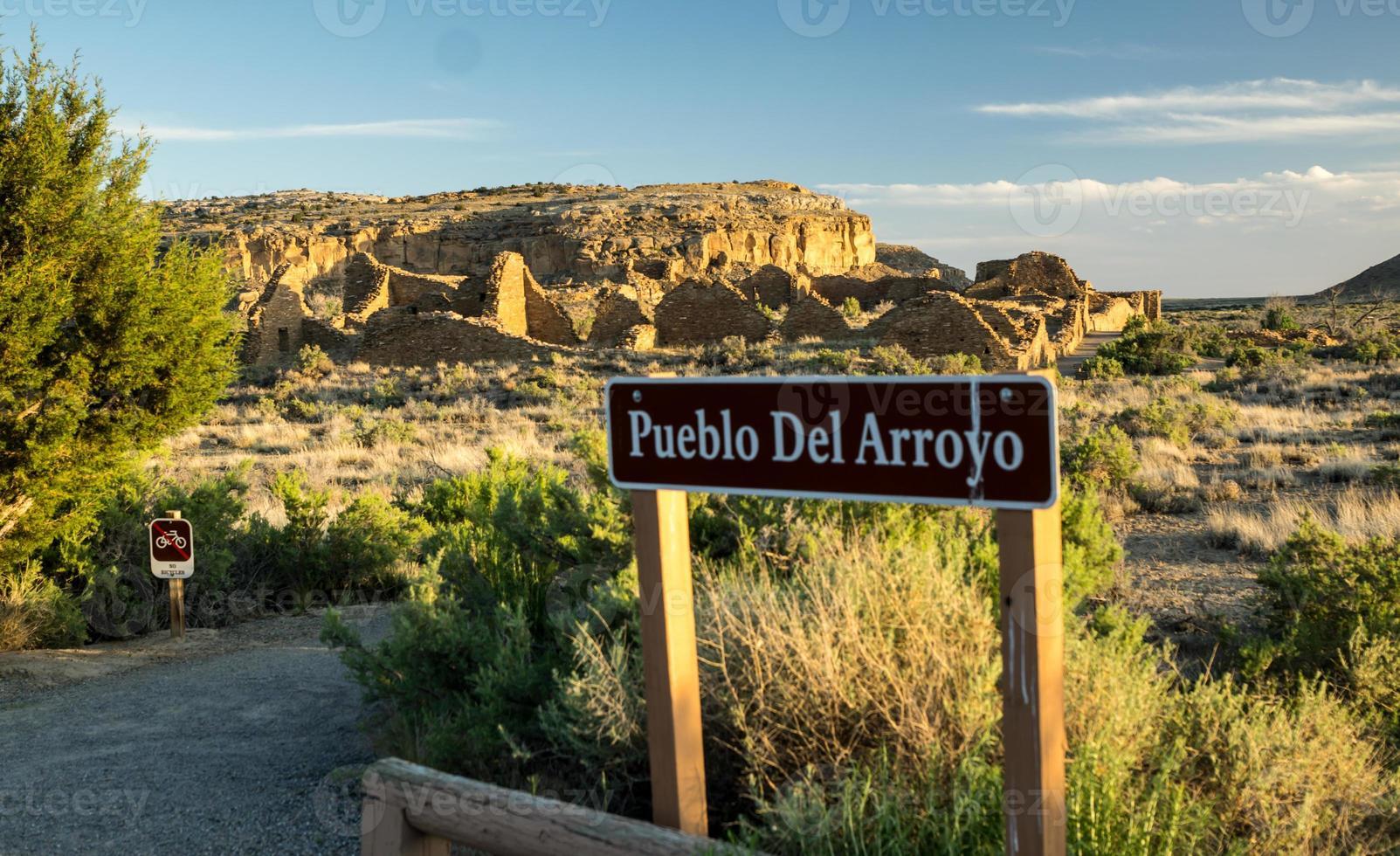 Ruinen von Pueblo del Arroyo foto
