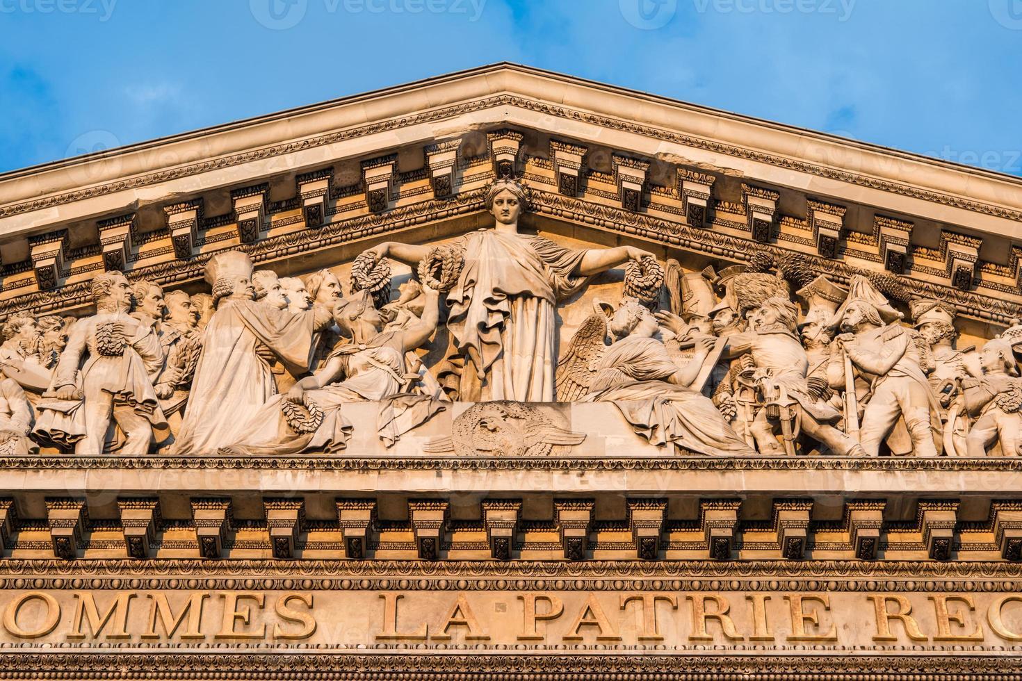 das pantheon, paris frankreich-architektonisches detail foto