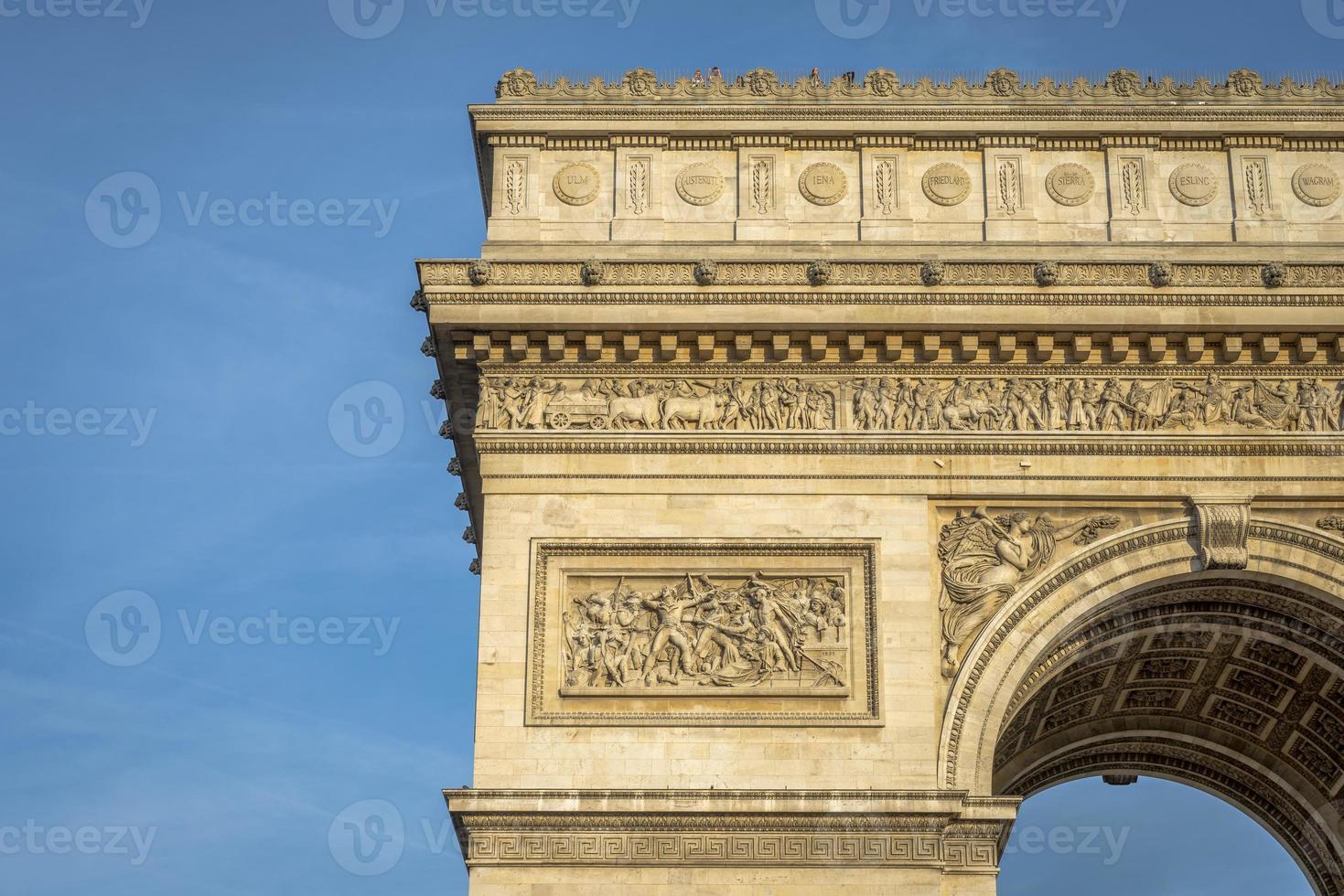 architektonisches Detail des Arc de Triomphe foto