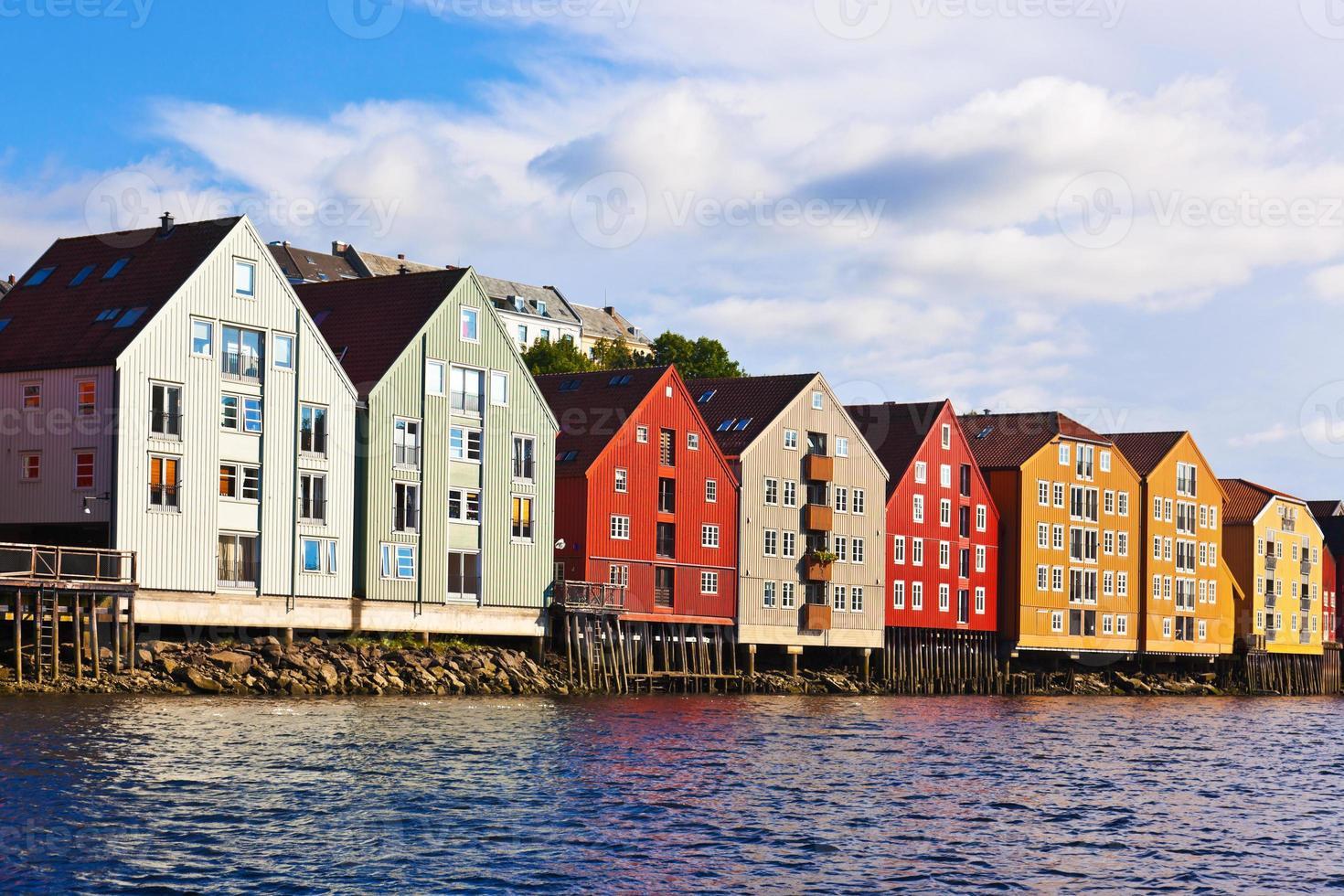 Stadtbild von Trondheim, Norwegen foto