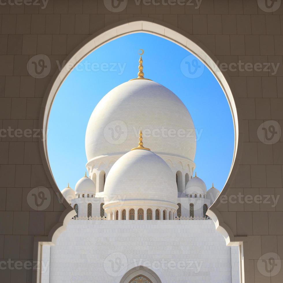 Scheich zayed große Moschee Abu Dhabi foto