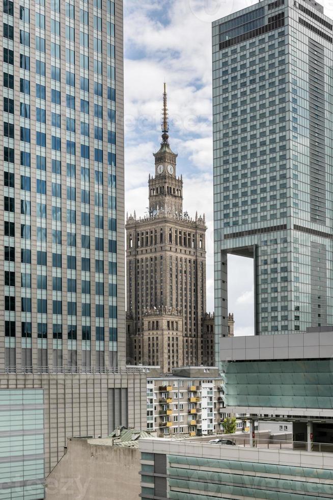Palast des Kulturaufbaus, Warschau, Polen foto