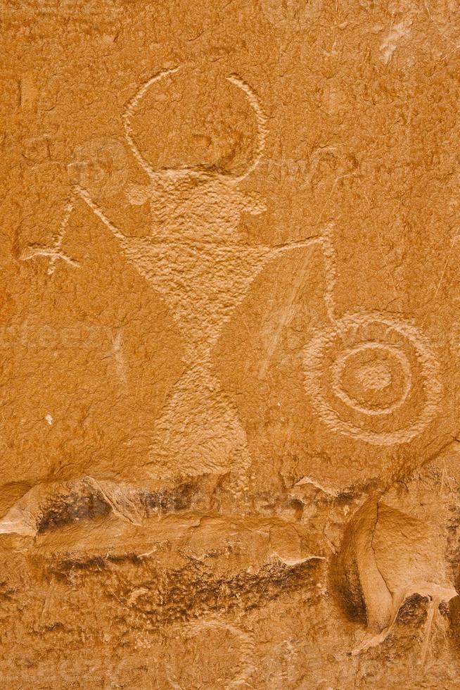 Petroglyphe, Escalante River Canyon, Utah foto