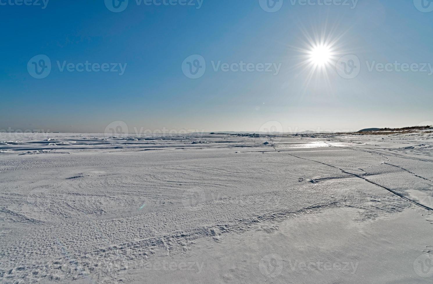 die Natur der Insel Sakhalin, Russland. foto