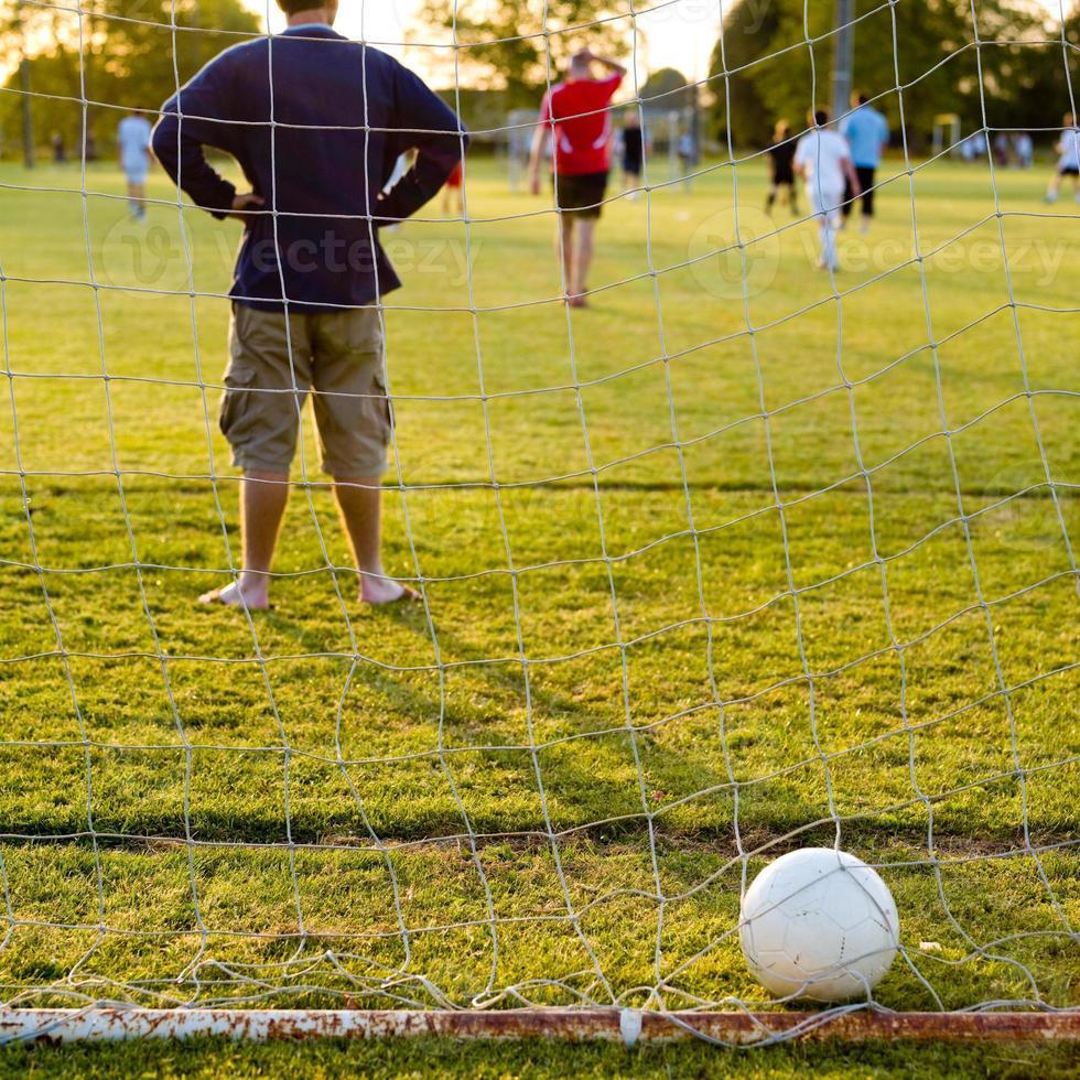 Ball zurück vom Netz foto