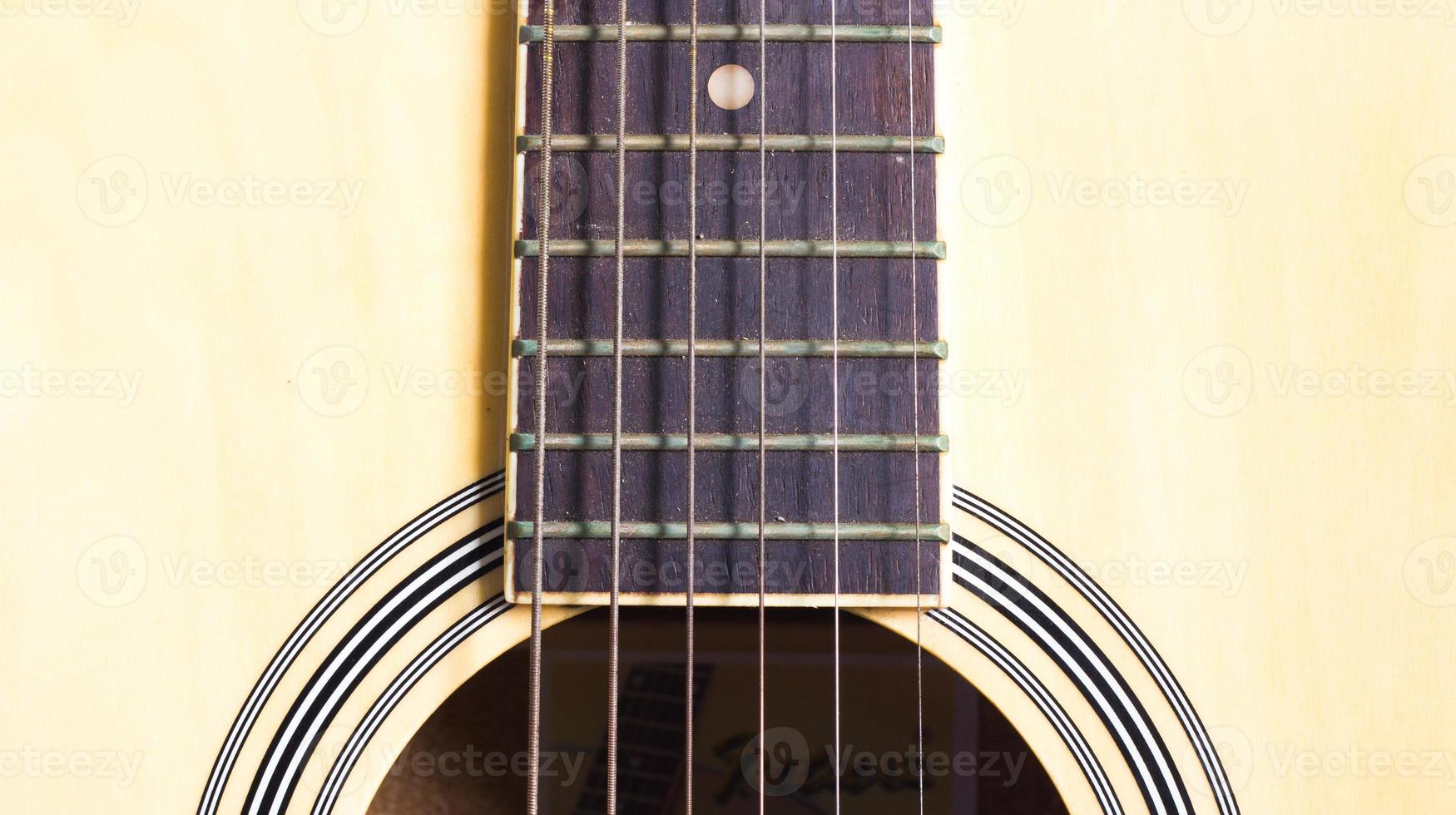 Nahaufnahme Saite der Gitarre foto