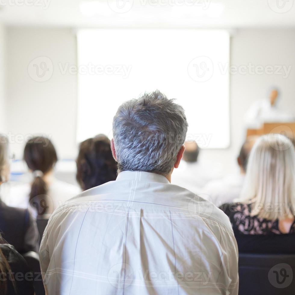 Geschäftskonvention und Präsentation. foto