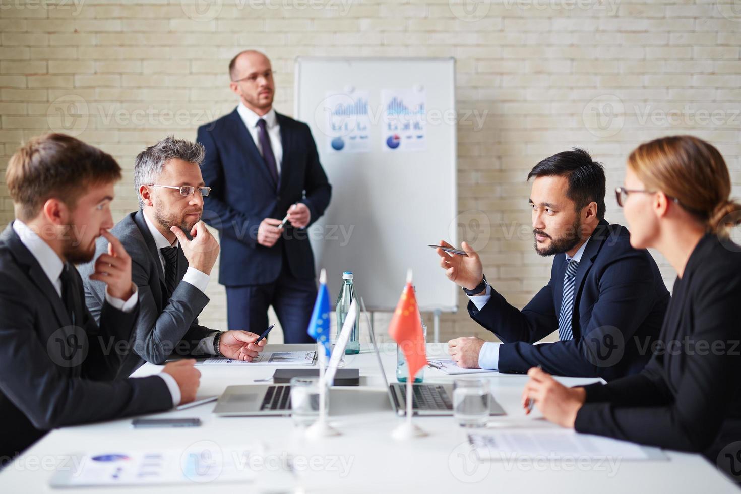 Treffen der Delegierten foto