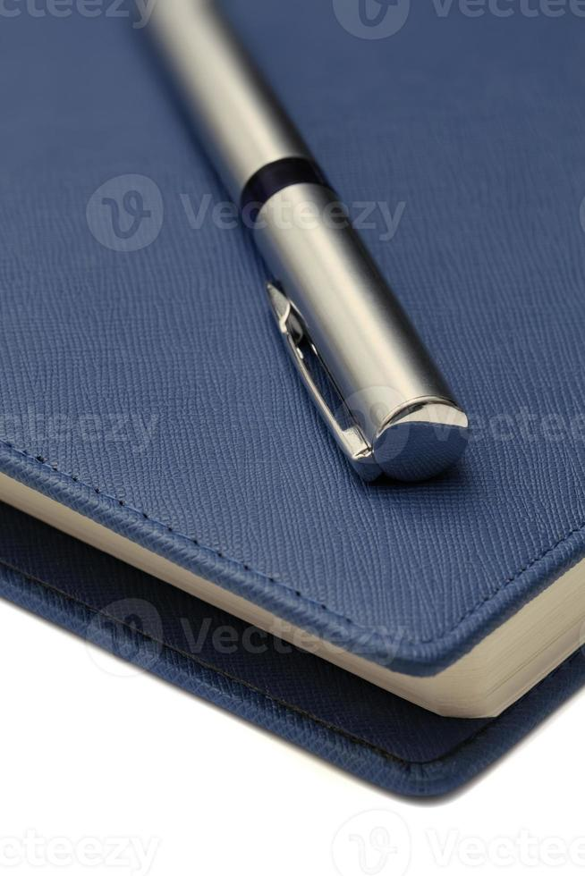 Makro-Kugelschreiber auf der Tagesordnung foto