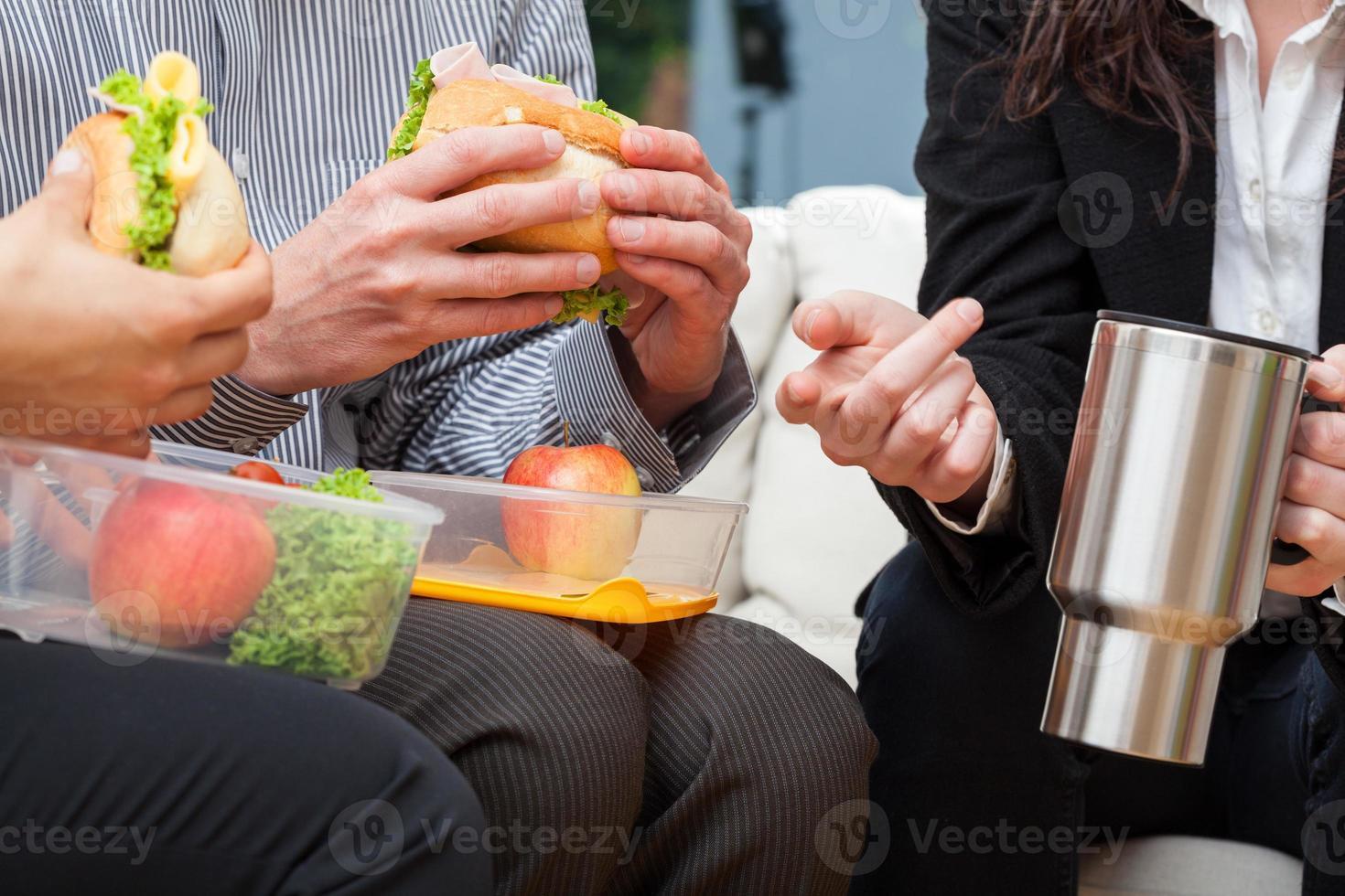 Geschäftspause zum Mittagessen foto