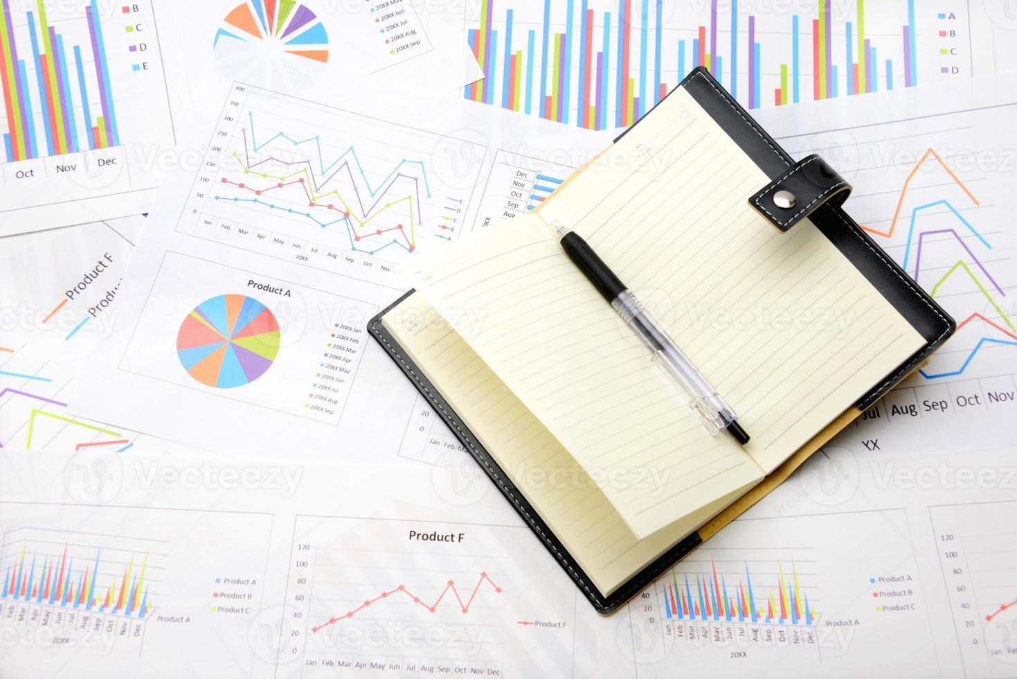 Business Chart und persönlicher Organizer foto