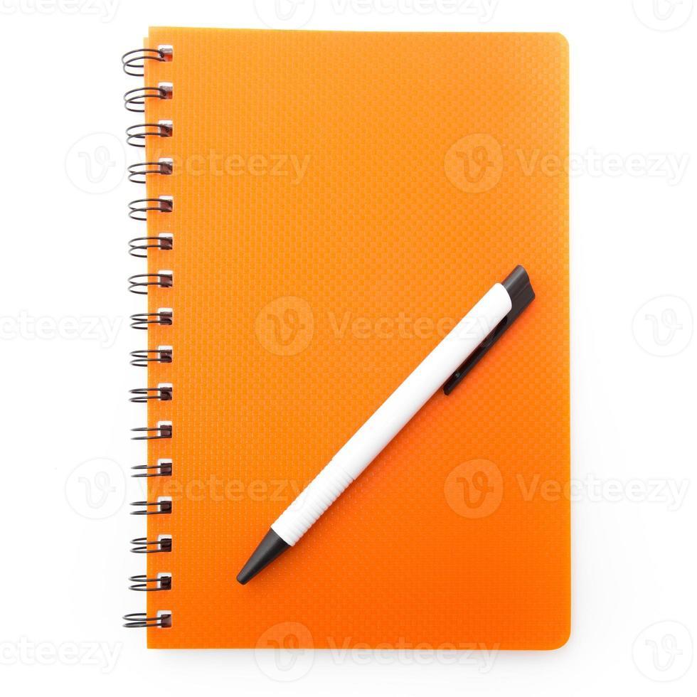 Notizbuch und Stift foto