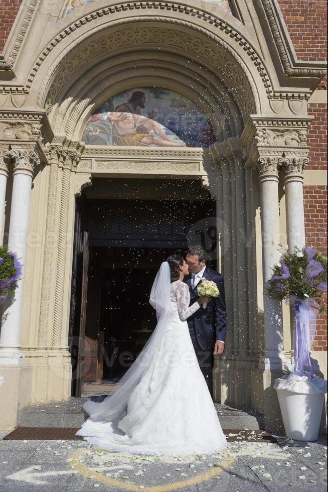 Hochzeitszeremonie der Kirche foto