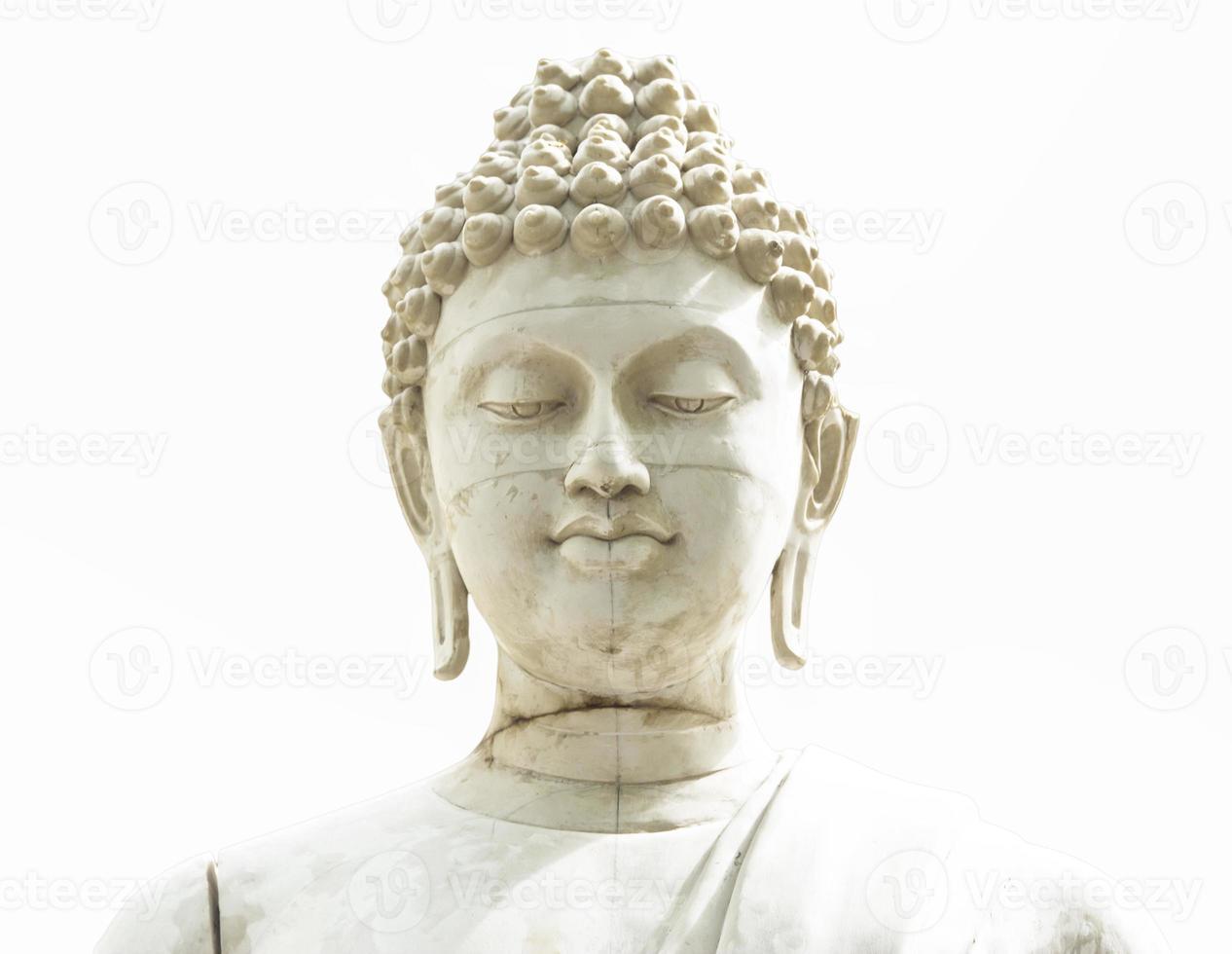 altes Buddha-Gesicht, Ayutthaya, Thailand foto
