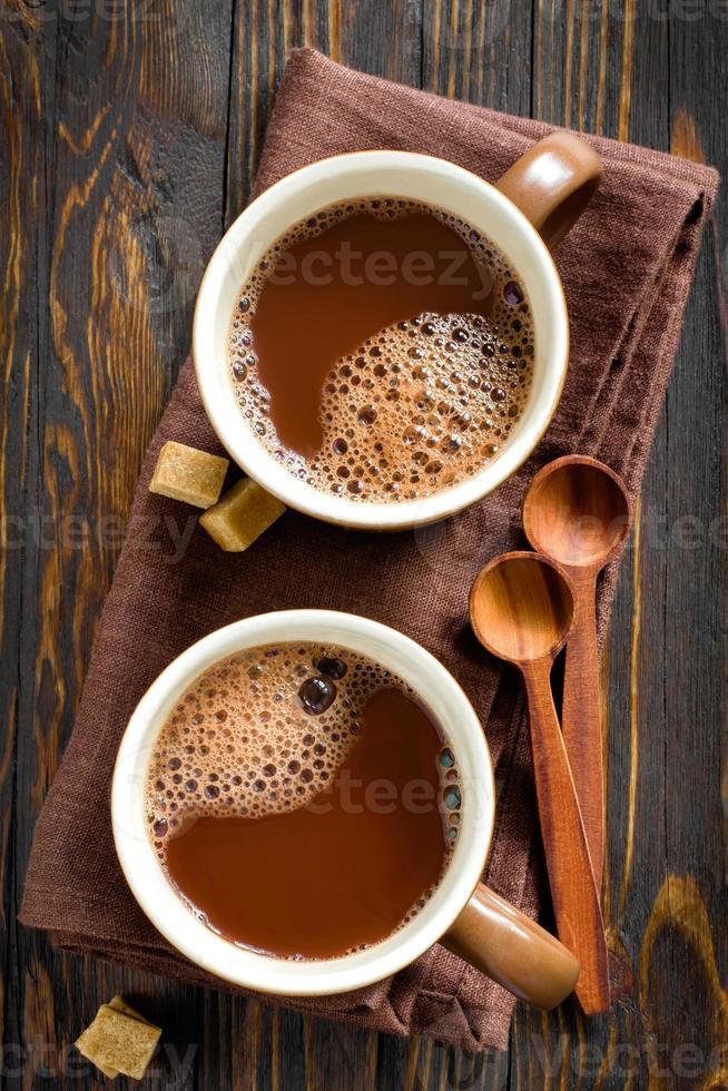 heißes Kakaogetränk foto
