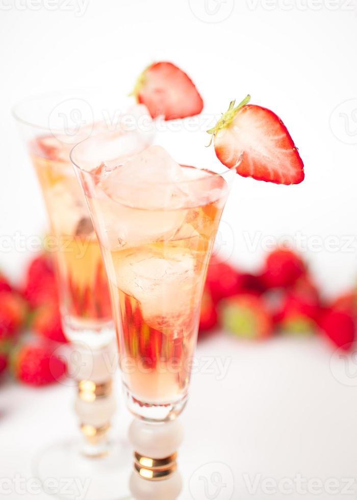mit Erdbeere trinken foto