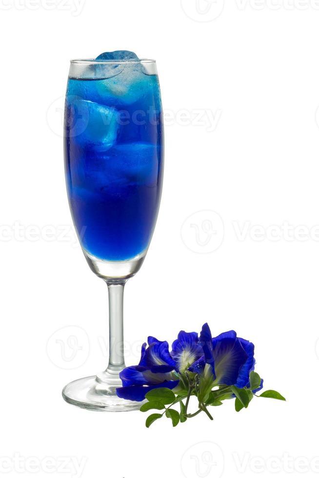 blaues Getränk foto