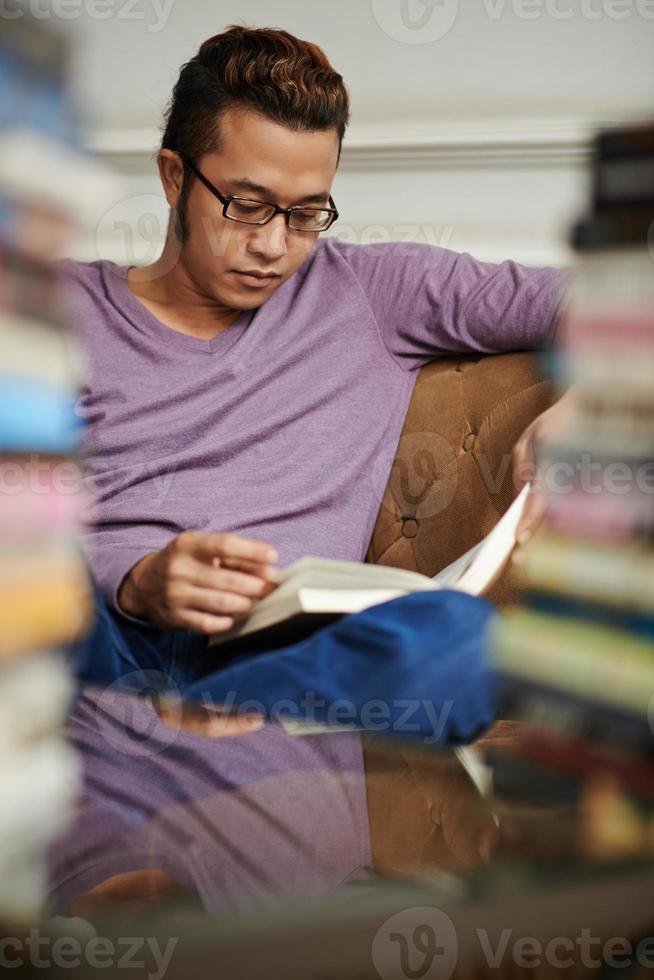 begeisterter Leser foto