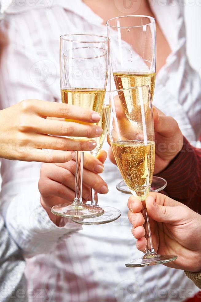 sprudelnder Champagner foto