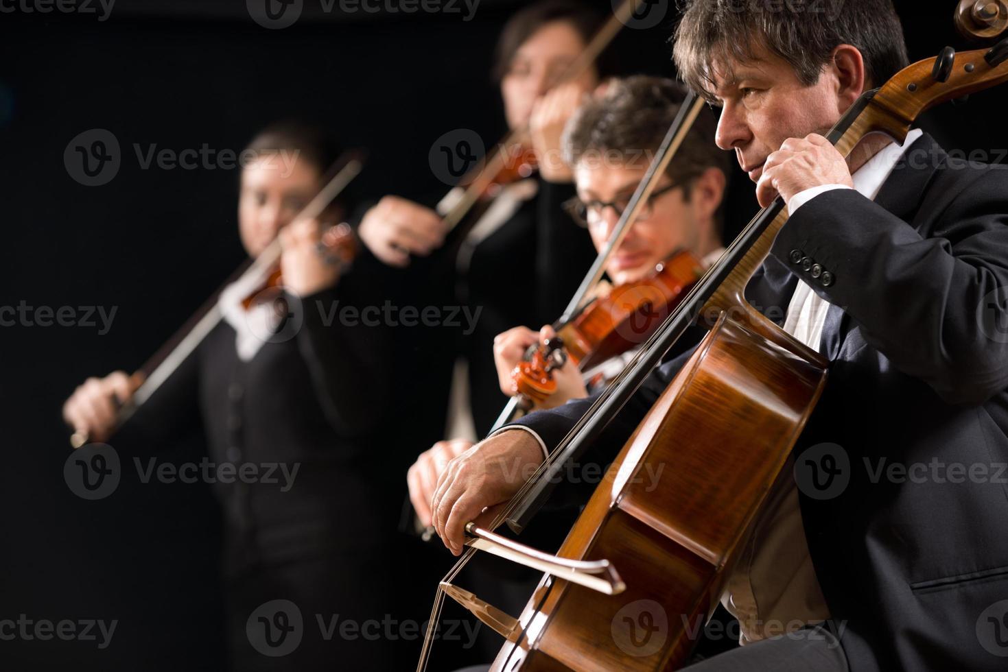 Streichorchesteraufführung foto