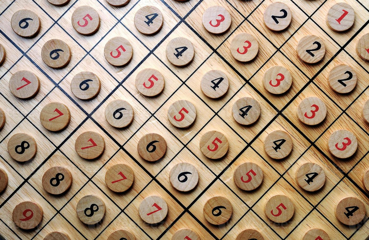 Holznummern foto