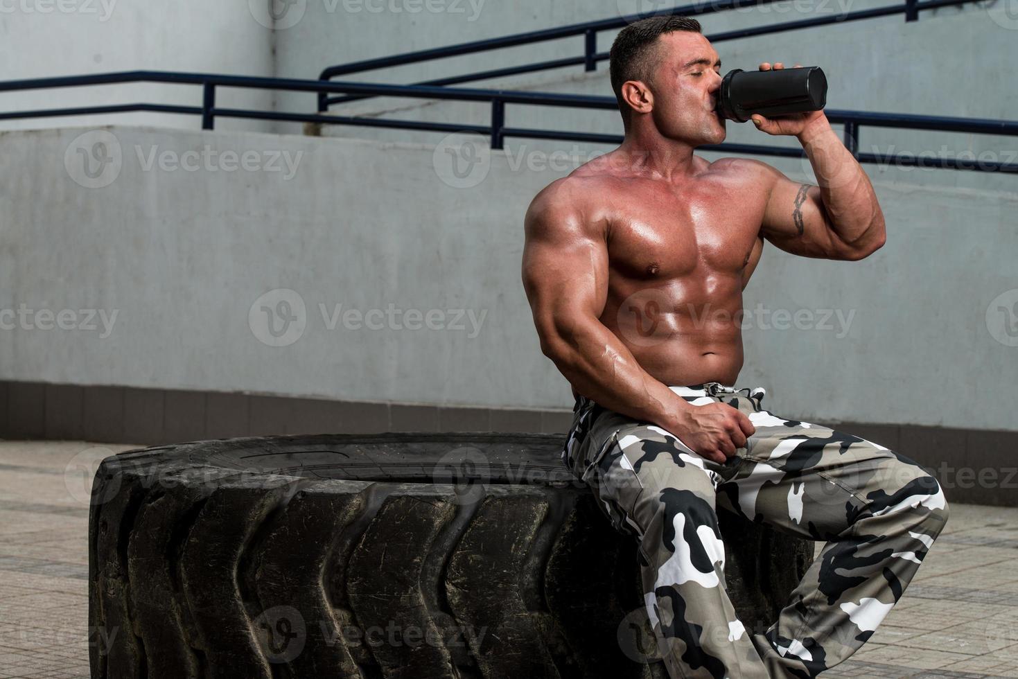 Bodybuilder trinken foto