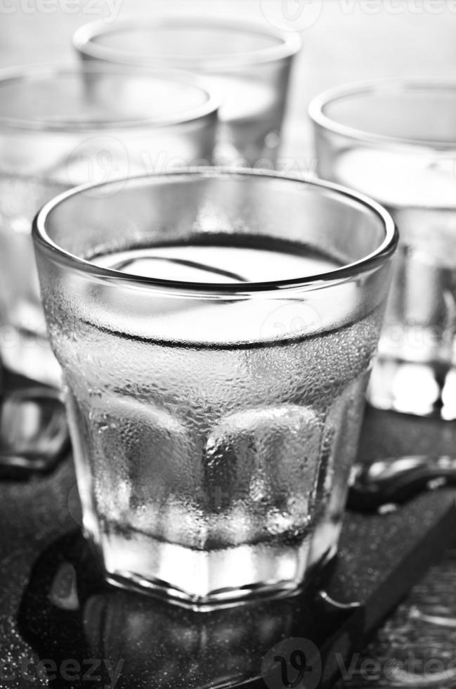 transparentes Getränk foto