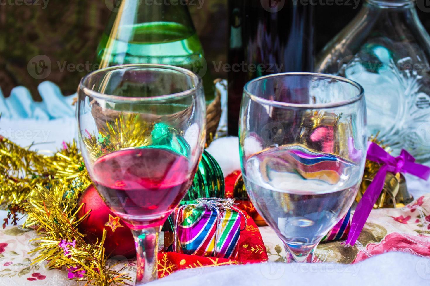 Getränke und Dekorationen foto