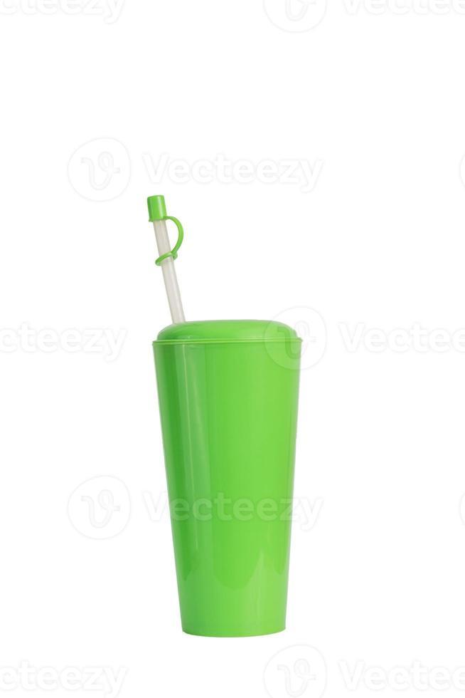 kühles frisches Getränk grüne Tasse foto